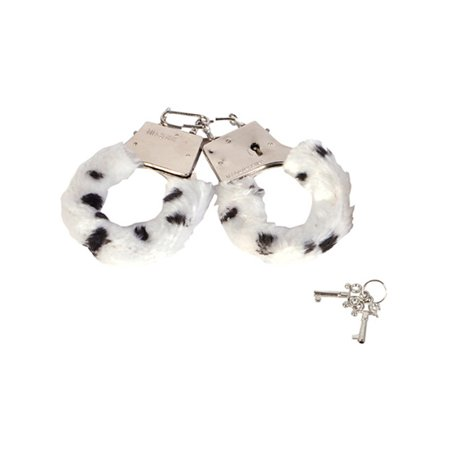 Fuzzy Nose - Soft Steel Fuzzy Snow Leopard Furry Handcuffs Hand Cuffs