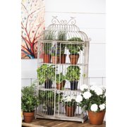 Evergreen Metal Birdcage Planter Shelf