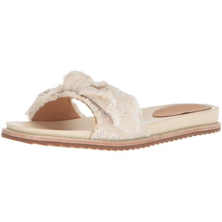 Bill Blass Womens Carmela Fabric Open Toe Casual Slide Sandals Bill Blass Clothing