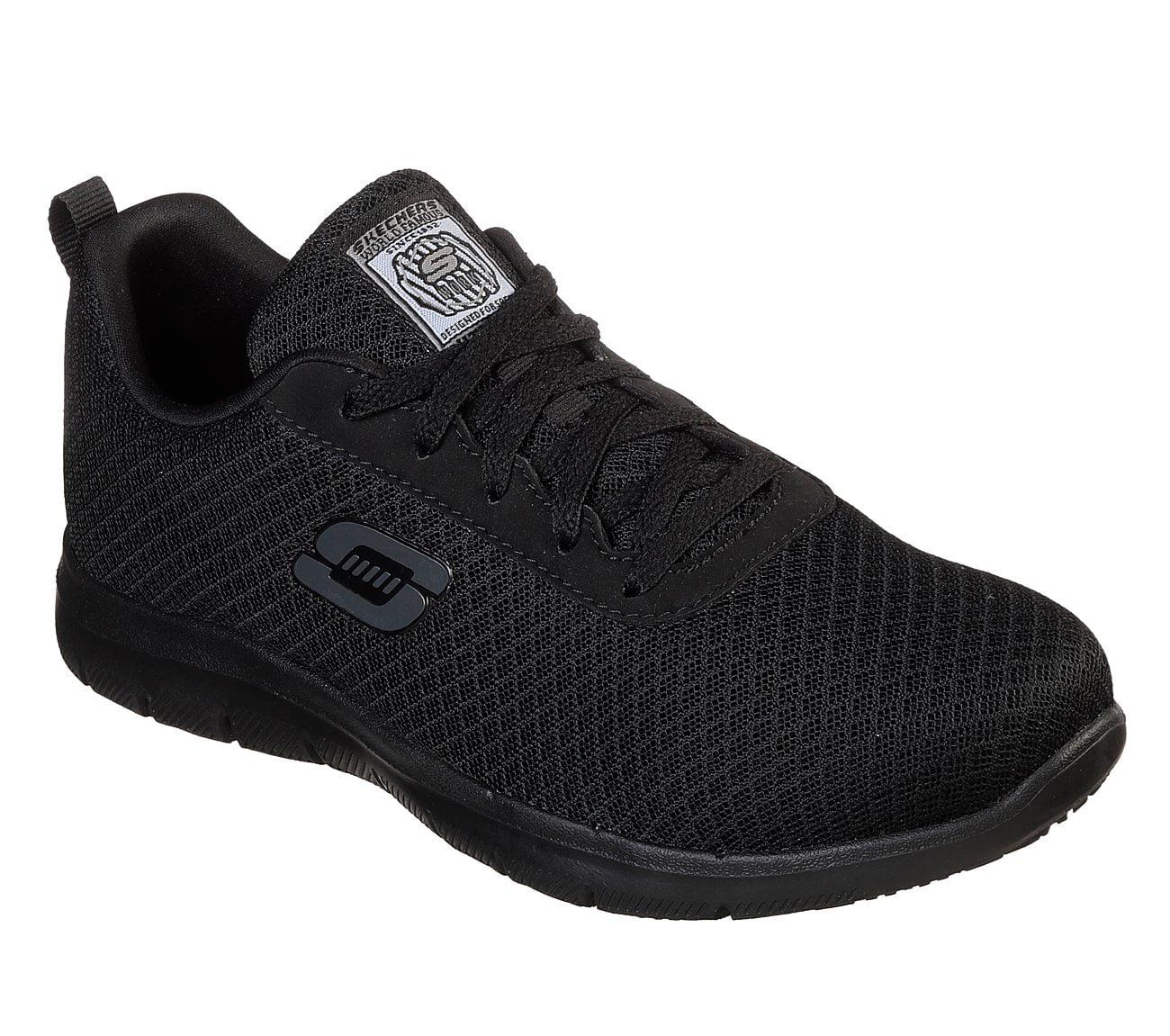 skechers slip on work shoes