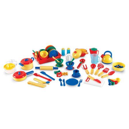 Kitchen Play Set Dishes Pots Pans Bowls Tea Pot Kids Toddler Boy Girl Gift NEW, Rocket Science Toys, 2018