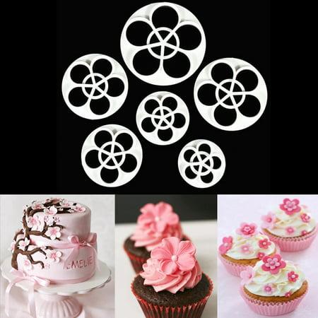 Fondant Mold Cake Sugarcraft Rose Flower Decorating Cookie Gum Paste Cutter Tool (Rose Cookie Mold)