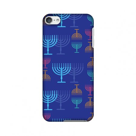 iPod Touch 6th Gen Case - Hanukkah Pattern 2, Hard Plastic Back Cover, Slim Profile Cute Printed Designer Snap on Case with Screen Cleaning Kit (Pattern Plastic Back Cover)
