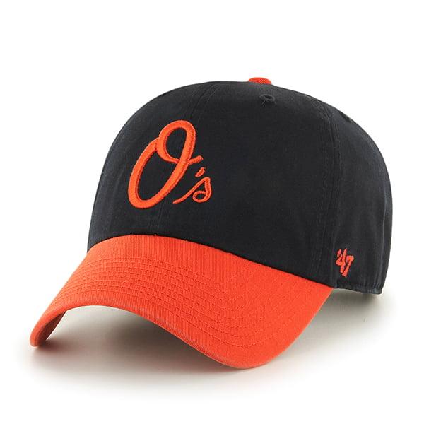 Baltimore Orioles 47 Brand MLB Clean Up Adjustable Hat - Black/Orange