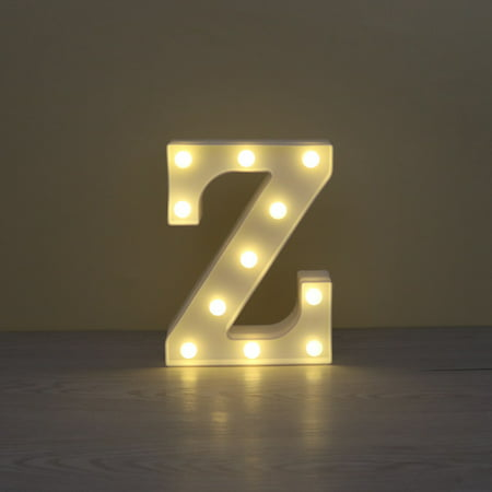 LED Marquee Letter Character Lights A - Z Alphabet Light Up Sign