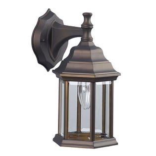 Outdoor Wall Sconce Downlight : One-Light Exterior Wall Lantern Light Fixture Sconce Outdoor Downlight, Matte Black - Walmart.com