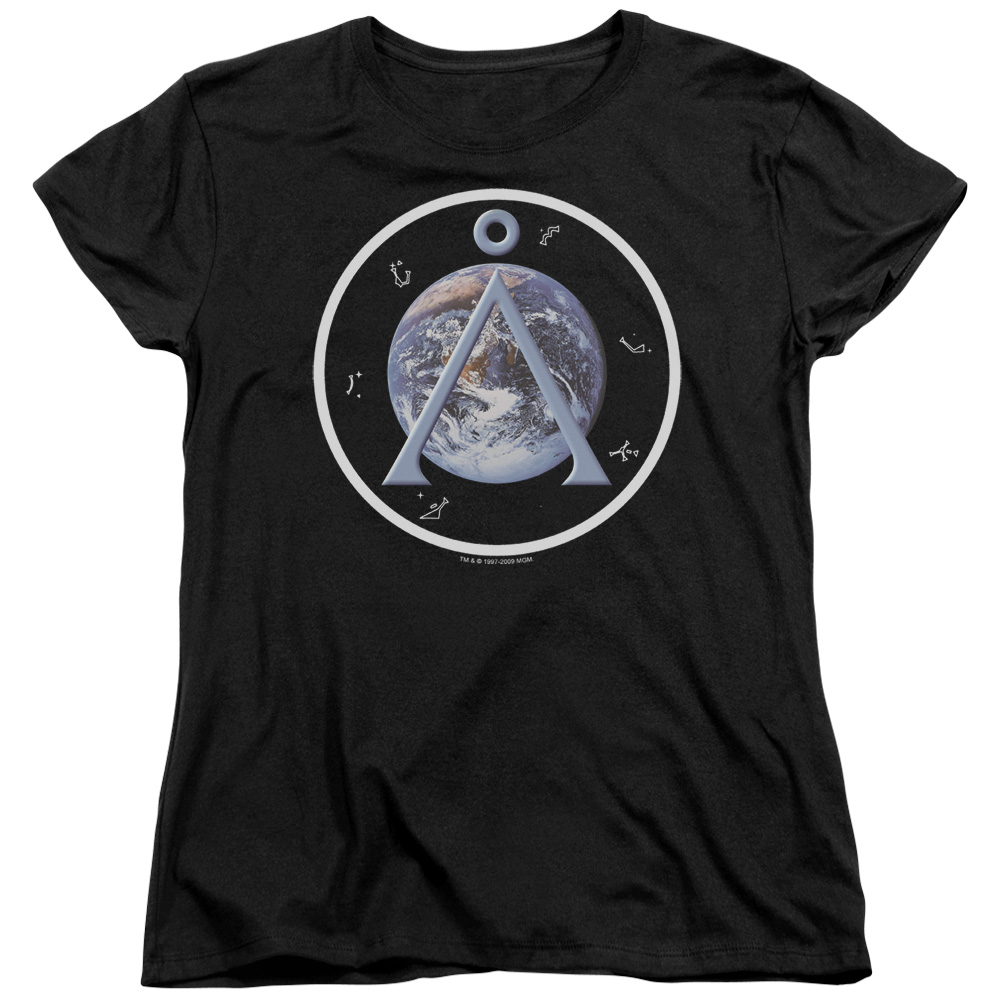 Stargate SG-1 Science Fiction Television Series Earth Emblem Women's T-Shirt Tee
