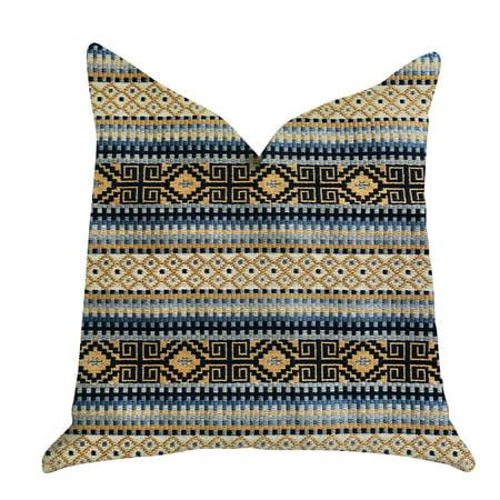 Plutus Daphne Diamante Textured Luxury Throw Pillow ()