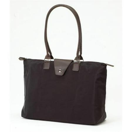 Joann Marrie Designs NF3BL Long Handle Fold-Up Bag - Black, Pack of 2