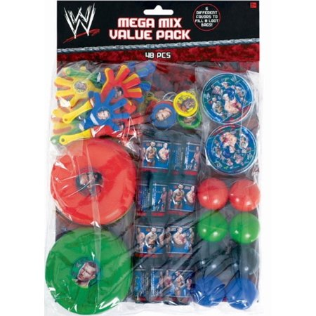 Party Favors - WWE - Mega Mix Value Pack - 48pc Set](Wwe Halloween Party 2017)
