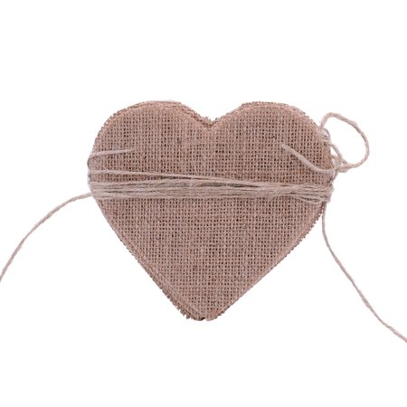 15pcs DIY Burlap Banner for Valentine's Day Wedding and Party Ornaments Heart Shape Decorarion Flax Cloth - Valentine Banner