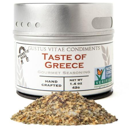 Gustus Vitae, Gourmet Seasoning, Taste of Greece, 1.4 oz (pack of 1)