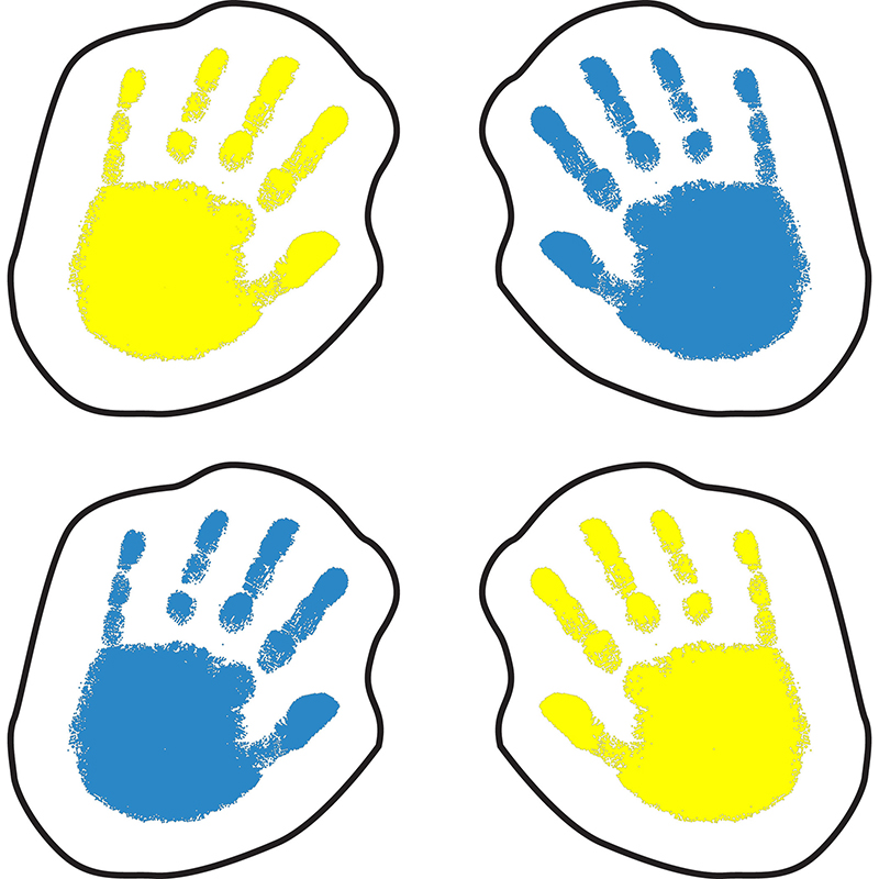 HANDPRINTS STICKERS 120 PER PK