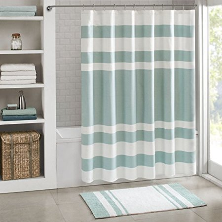 Home Essence Spa Waffle Shower Curtain with 3M Treatment ()