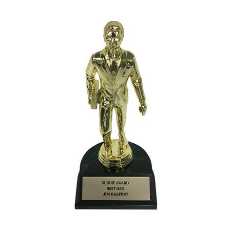 Jim Halpert Best Dad Dundie Award Trophy The Office Dundee Dunder Mifflin Gift - image 1 de 1