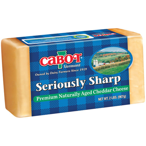 Cabot Seriously Sharp Yellow Cheddar Cheese, 2 lb