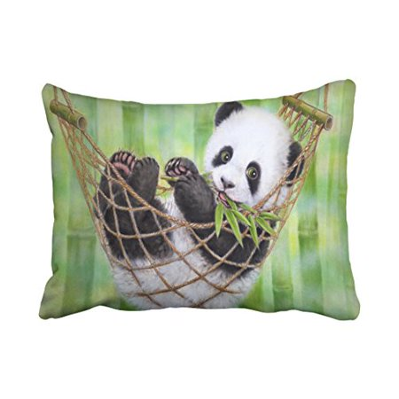 winhome decorative cute baby panda eat bamboo funny bear animal art
