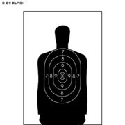 "50 Pcs of B-29 Qualification Target (Black) 50 foot reduction of B-27 police silhouette Size: 11. 5"" x 22"""
