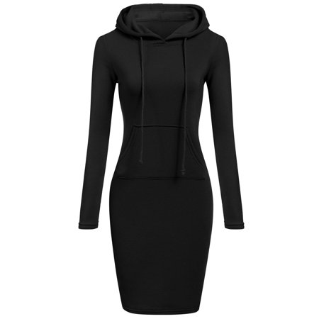 Pudcoco Ladies Casual Sweatshirt Long Sleeve Sweater Hoodie Jumper Winter Dress