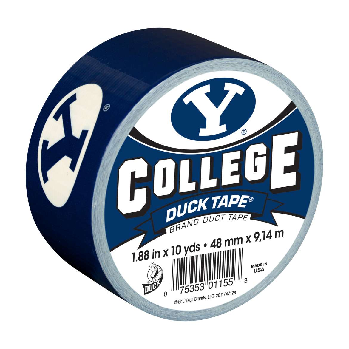 "Duck Brand College Logo Duck Tape, 1.88"" x 10 yard, BYU Cougars"