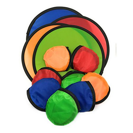 12 x Foldable Flying Disc w/ Bag Assortment - 9.5