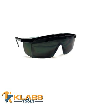 KlassTools Series 1500 Safety Glasses with Infrared Green IR5 Lens (Size: -