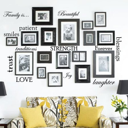 Innovative Stencils 12 Family Quote Words Vinyl Wall Decal - Printable Halloween Word Wall Words