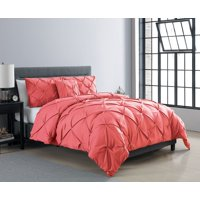VCNY Home Carmen 3-Piece Pintuck Textured Bedding Duvet Cover Set with Shams, Multiple Colors Available