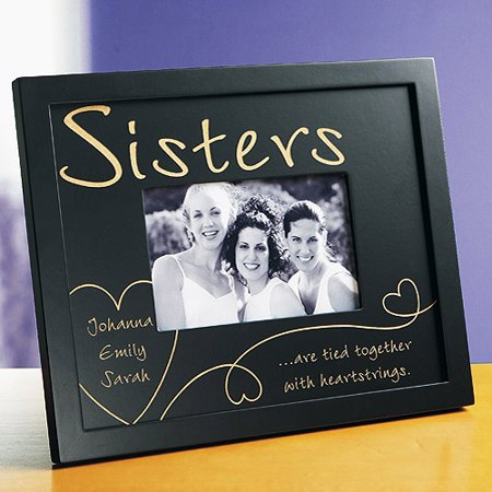 personalized heartstrings wood frame sisters ebony