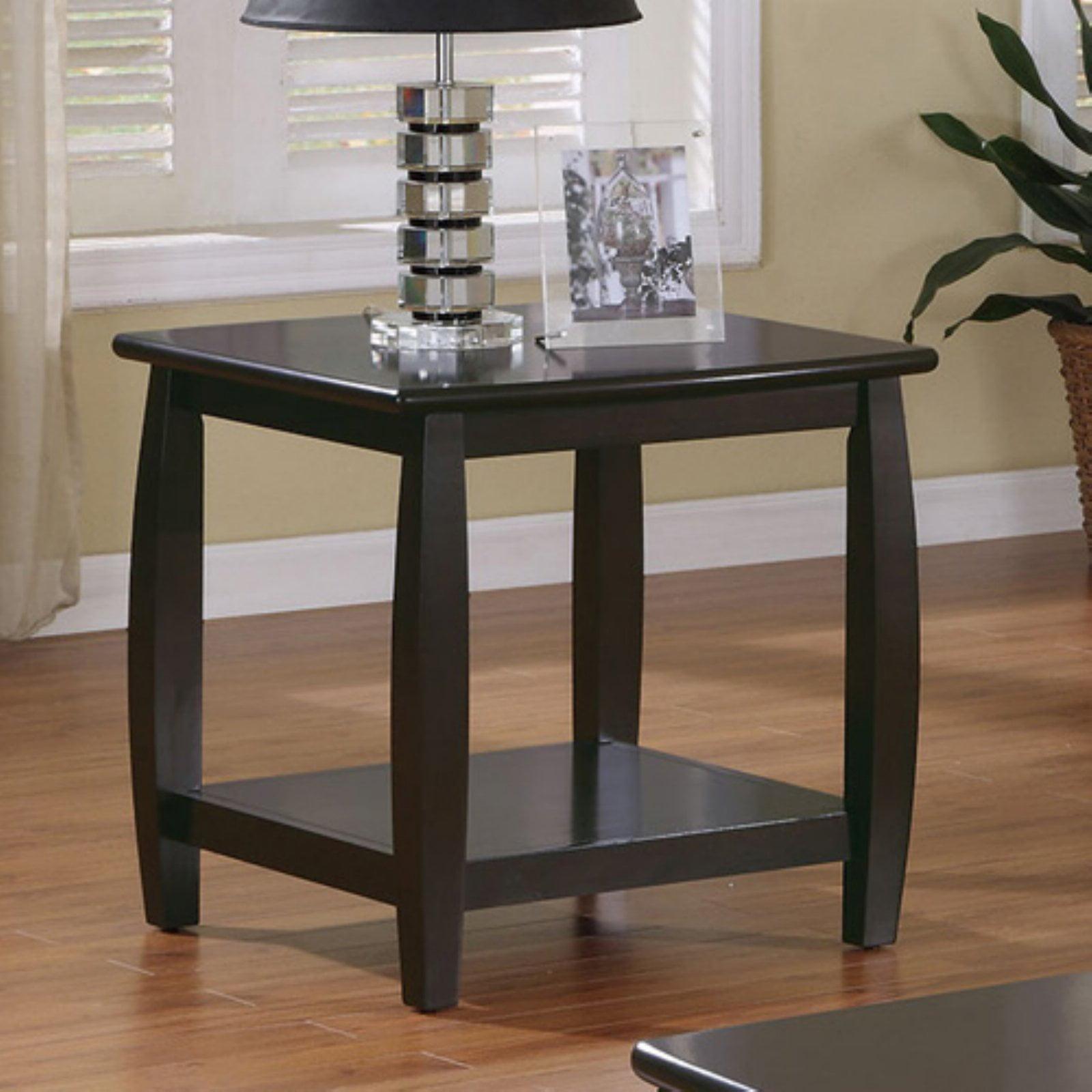 Coaster Company Double Shelf End Table, Cappuccino