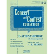 Concert and Contest Collection for Eb Alto Saxophone: Solo Book with Online Media (Paperback)