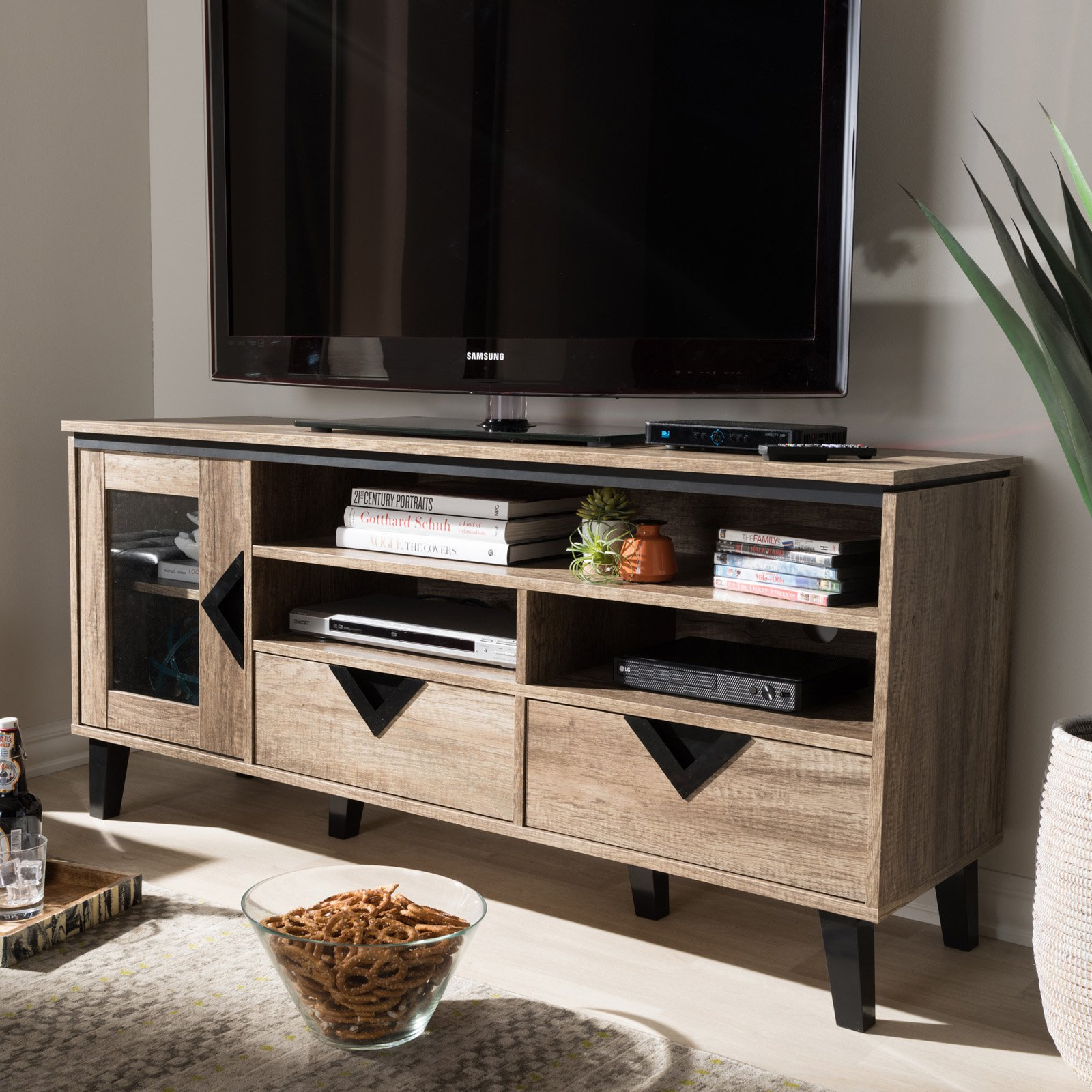 Baxton Studio Cardiff Wood 55-in. TV Stand