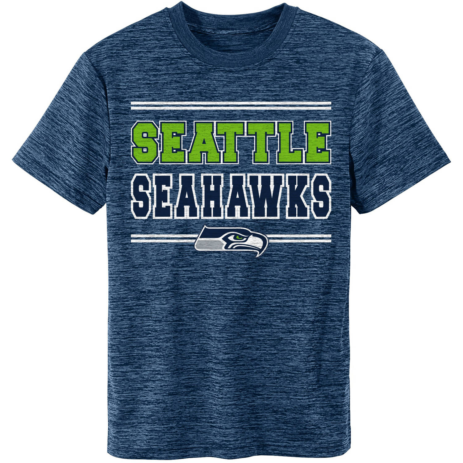 NFL Seattle Seahwaks Youth Short Sleeve Space Dye Tee
