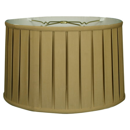 Royal Designs 10  Shallow Drum English Box Pleat Lamp Shade Antique Gold