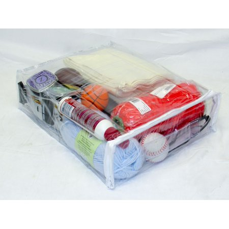 Heavy Duty Vinyl Zippered (Clear) Storage Bags 12