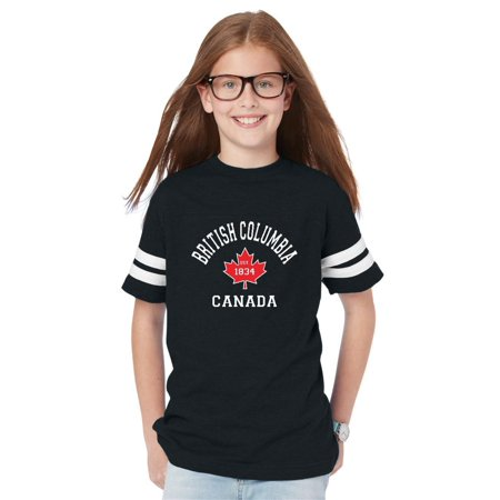 British Columbia Youth Unisex Football Fine Jersey Tee