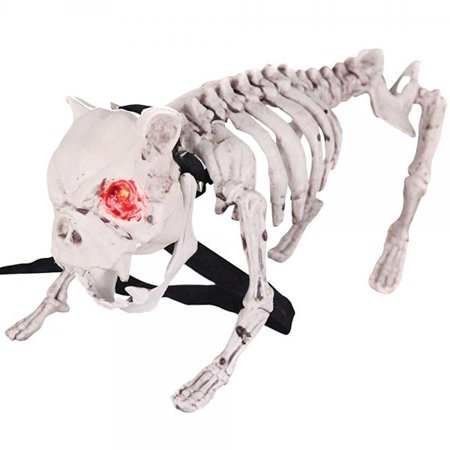 Vicious Barking Skeleton Dog Menacing Fierce Halloween Decoration - Dog Skeleton Halloween Decoration