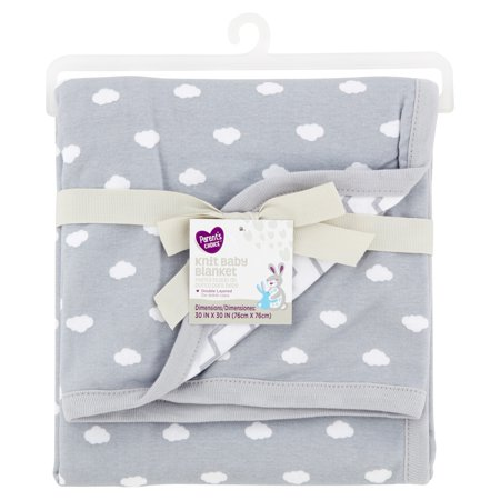 Parent's Choice Knit Baby Blanket, Gray