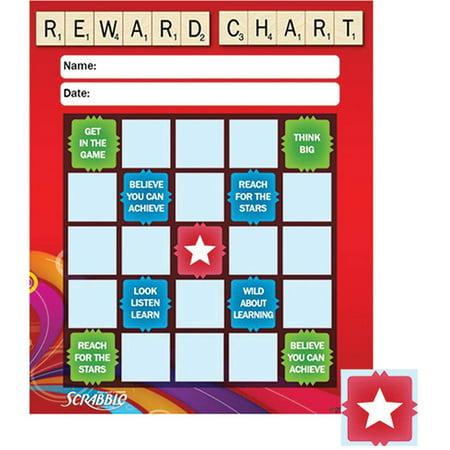 EU-837427 - Scrabble Stars Mini Reward Chart by Eureka