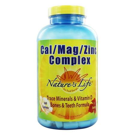 - Nature's Life - Cal Mag Zinc Complex - 360 Tablets