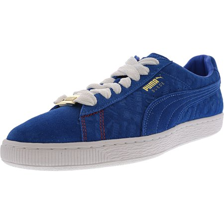 Puma Men's Suede Classic Paris Electric Blue Lemonade Ankle-High Leather Fashion Sneaker - 9M (Electric Blue Sneakers)
