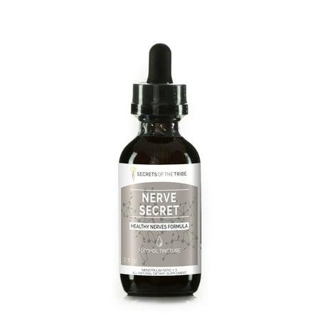 Nerve Secret Alcohol Extract, Tincture, Turmeric, Feverfew, Passionflower, Hawthorn, Oatstraw, Skullcap. Healthy Nerves formula 2 oz - Nerve Formula Alcohol
