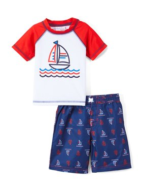 ce94f193a1 Product Image Freestyle Revolution Graphic Rashguard & Swim Trunks, 2pc Set  (Baby Boys & Toddler Boys