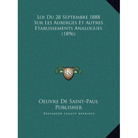 Loi Du 28 Septembre 1888 Sur Les Auberges Et Autres Etablissloi Du 28 Septembre 1888 Sur Les Auberges Et Autres Etabliss - image 1 of 1