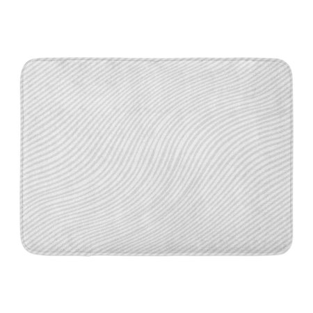 KDAGR Abstractbackground Striped Wavey White and Gray Artistic Canvas Clean Doormat Floor Rug Bath Mat 23.6x15.7