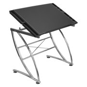 Studio Designs Executive Craft Station in Chrome / Faux Leather 13370