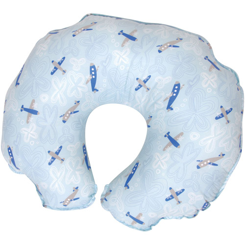 Leachco Cuddle-U Basic Nursing Pillow and More, Skyplanes Blue