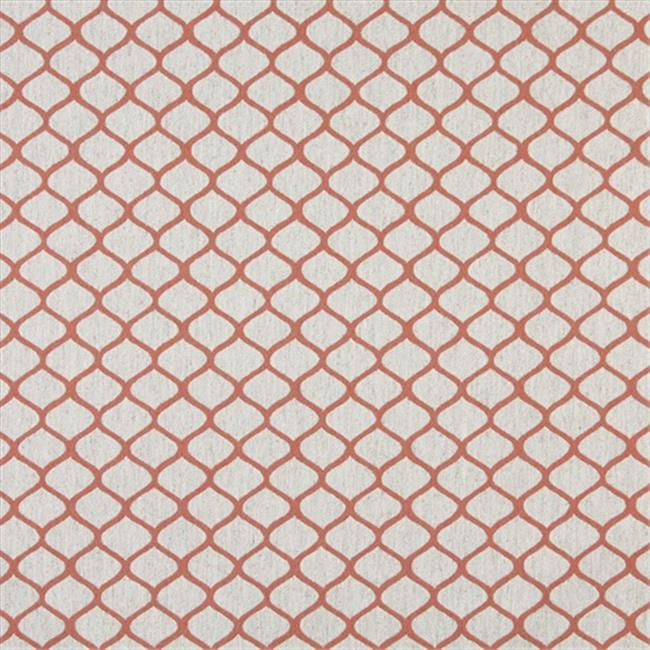 Designer Fabrics K0005C 54 in. Wide Persimmon And Off White, Modern, Geometric, Designer Quality Upholstery Fabric