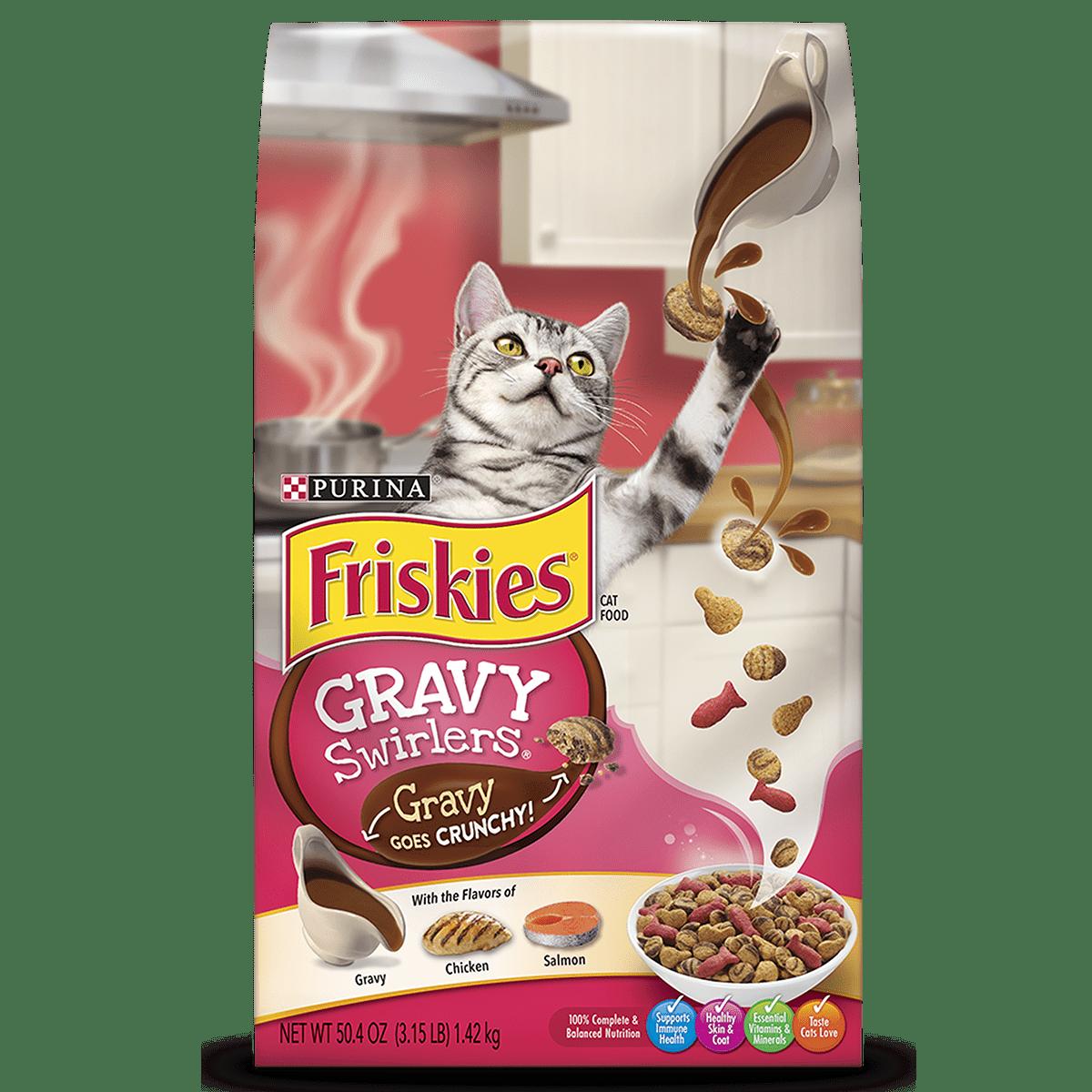 Friskies Dry Cat Food; Gravy Swirlers - 3.15 lb. Bag