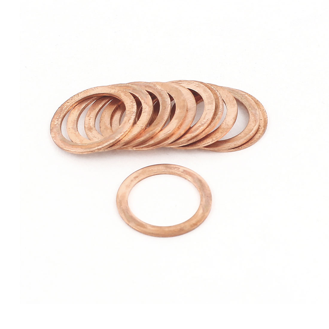 10Pcs 16mmx22mmx2mm Copper Crush Washer Flat Ring Seal Gasket Fitting